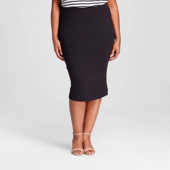 official sale high quality guarantee find lowest price Ava & Viv Plus Size Black Midi Pencil Skirt Shaper NWT